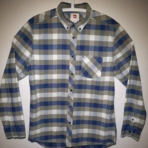 Quicksilver Modern Plaid Shirt Long Sleeve Small